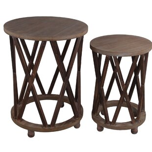 Millwood Pines Tindle 2 Piece Nesting Tables