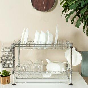 Darina Adjustable Chrome Wire Dish Rack & Extra Large Dish Rack | Wayfair