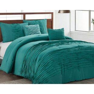 House of Hampton Tegan 5 Piece Reversible Comforter Set