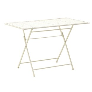 Ozzie Folding Iron Bistro Table By Lily Manor