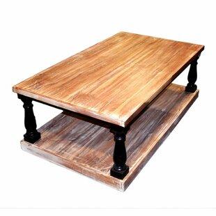 Gracie Oaks Blasa Rectangular Wooden Coffee Table with Storage