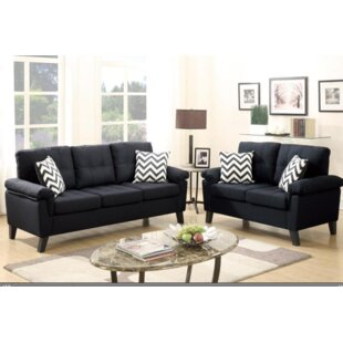 Low priced Berkeley Sofa and Loveseat Set by A&J Homes Studio Reviews (2019) & Buyer's Guide