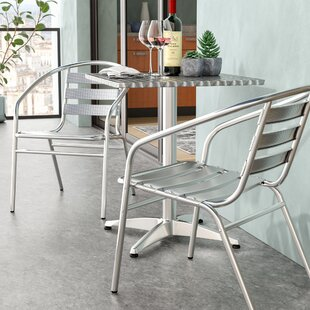 Calimesa Square 3 Piece Bistro Set
