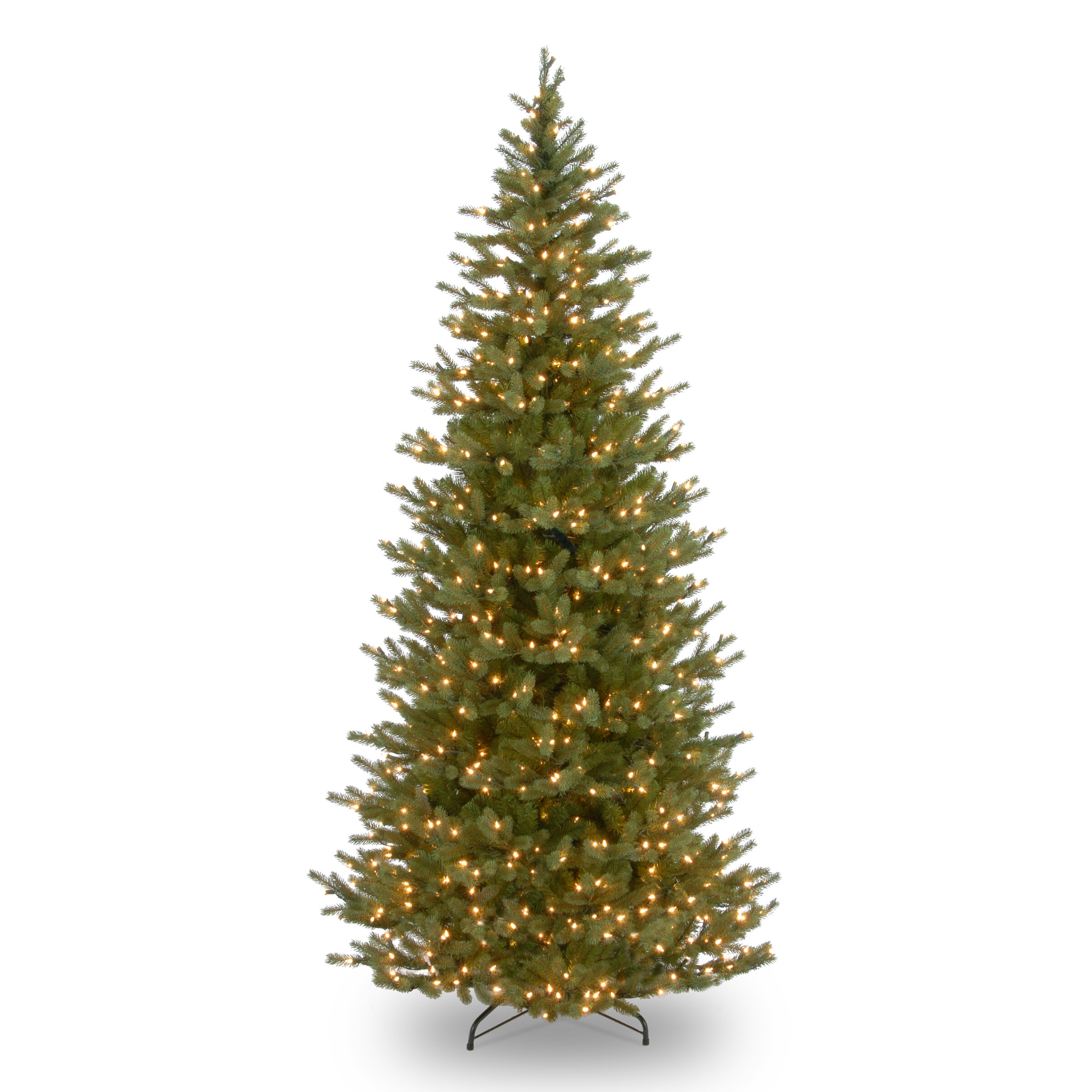 The Holiday Aisle Feel Real Norway Slim 7\' Spruce Artificial ...