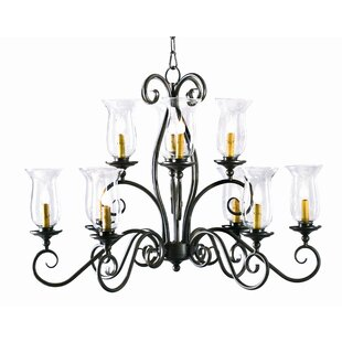 2nd Ave Design Wallis Oval 10-Light Shaded Chandelier