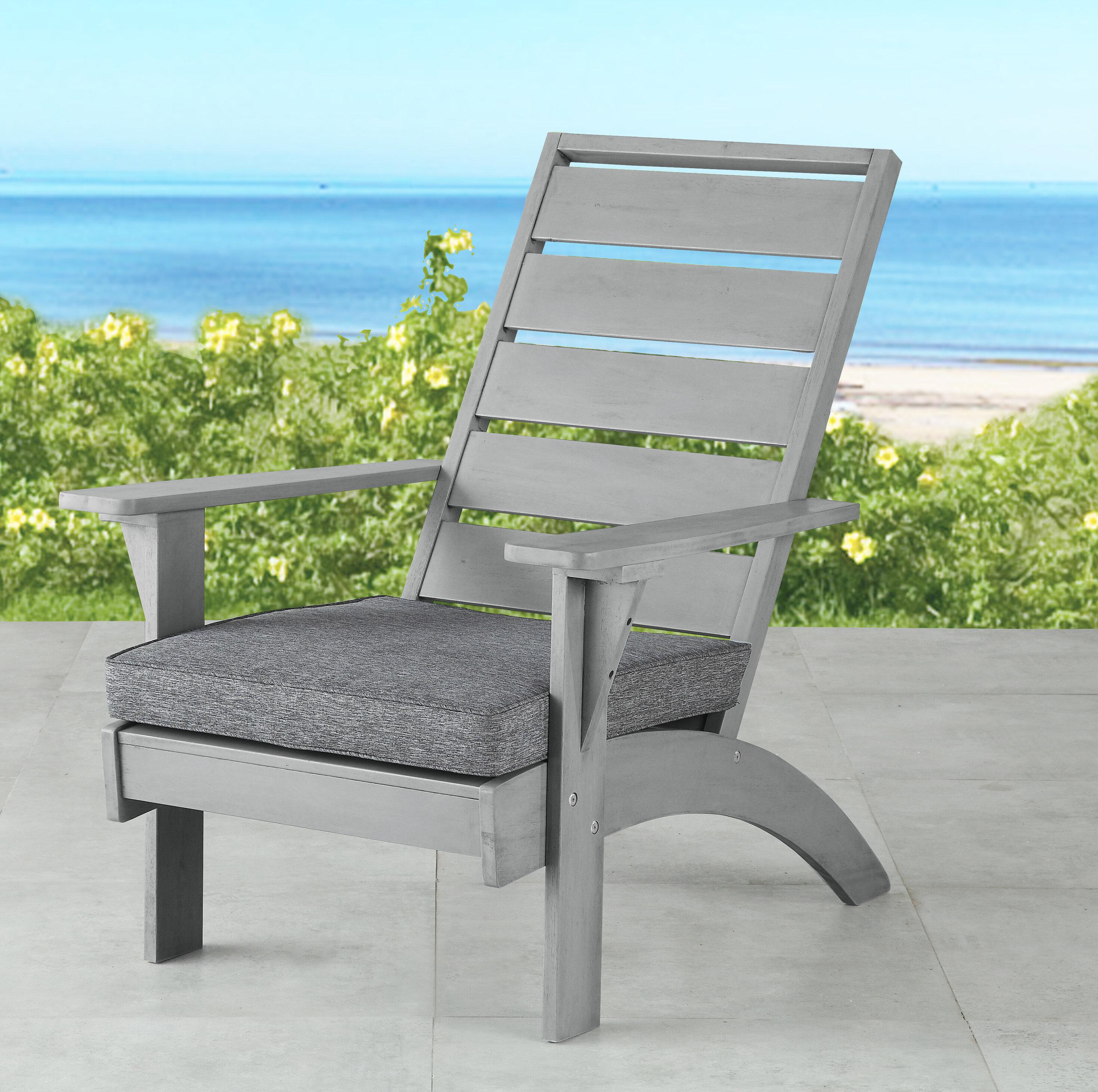 Beachcrest Home Katniss Patio Chair With Cushions Reviews Wayfair