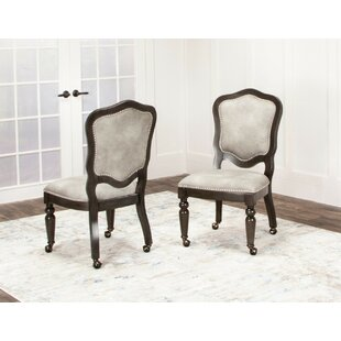 Oroville Upholstered Dining Chair (Set of 2) Canora Grey