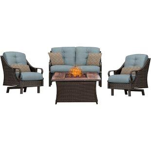 Three Posts Sherwood 4 Piece Sofa Set with Cushions
