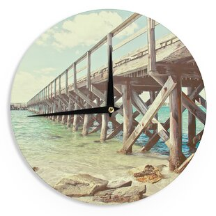 Debbra Obertanec 'On The Pier' 12 Wall Clock by East Urban Home