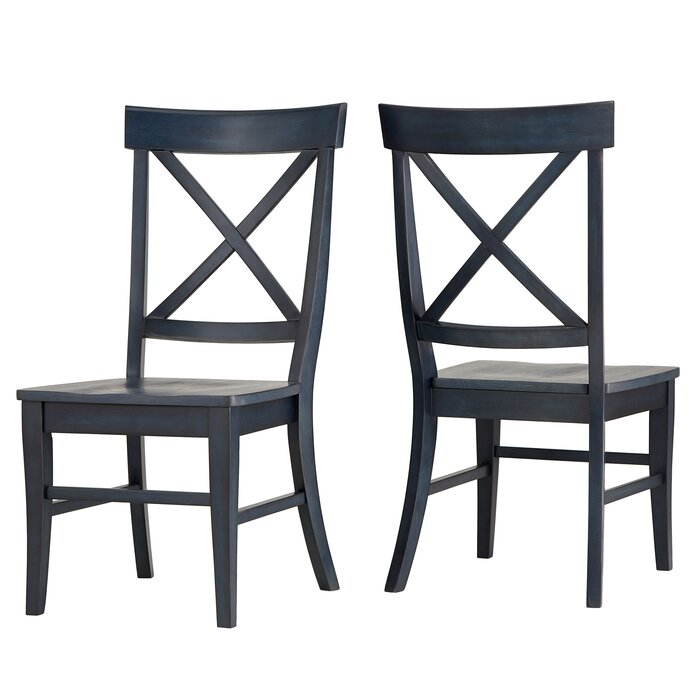 Fortville X Back Solid Wood Dining Chair