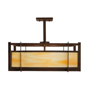 Meyda Tiffany Boulder Creek 2-Light Square/Rectangle Chandelier