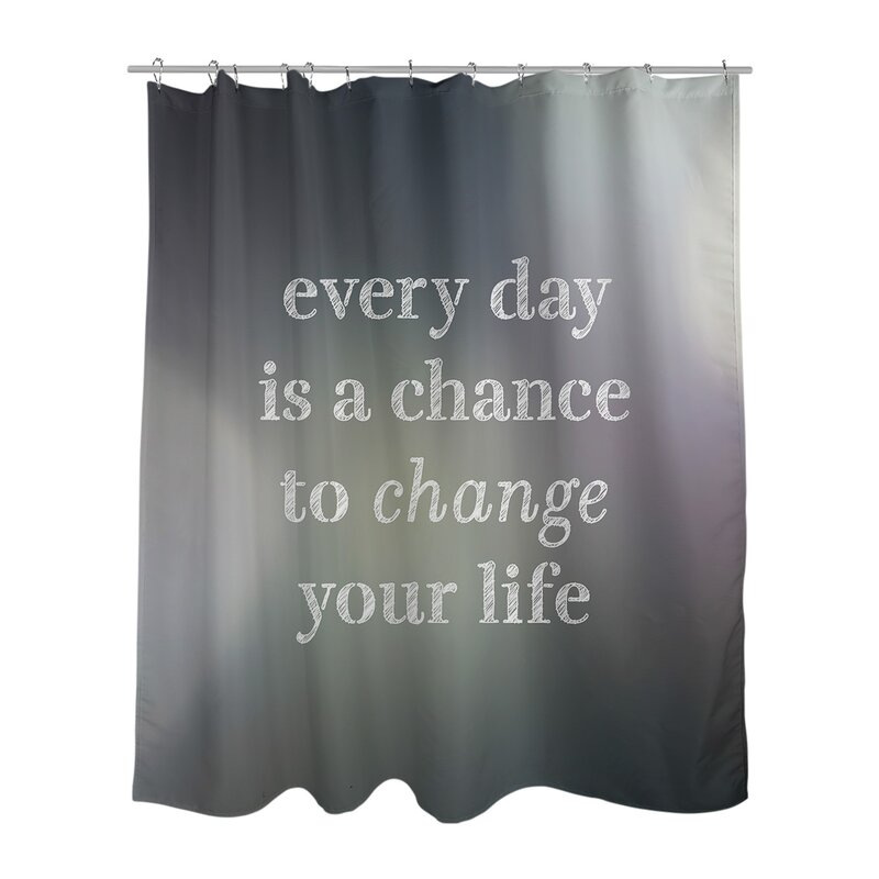 East Urban Home Multicolor Background Change Your Life Quote Shower Curtain Set Wayfair