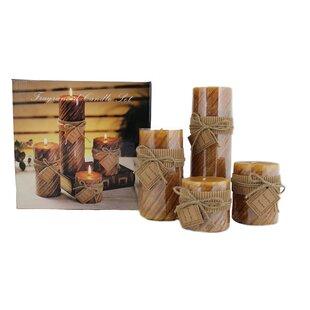 4 Piece Scented Pillar Candle Set