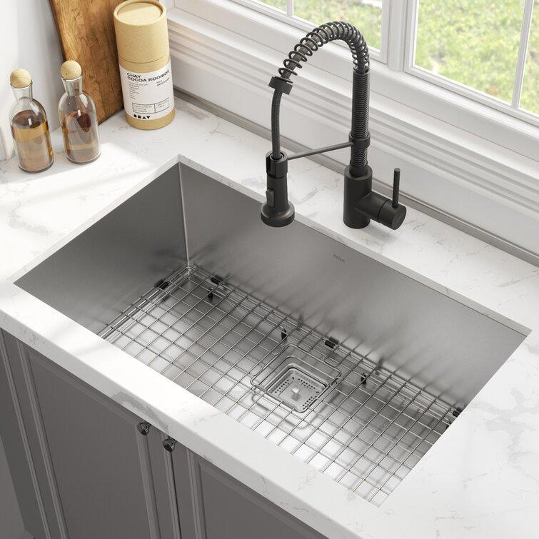 "Pax™ 32"" L x 19"" W Undermount Kitchen Sink with Faucet"