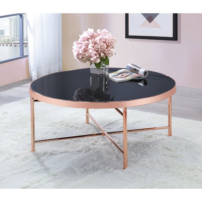 Round Coffee Table Rose Gold