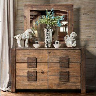 Bushman 6 Drawer Double Dresser with Mirror