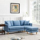 Stefania 74.01 Reversible Sofa & Chaise with Ottoman by George Oliver