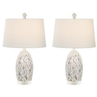 Resendez Coral Coastal 25 Table Lamp (Set of 2)