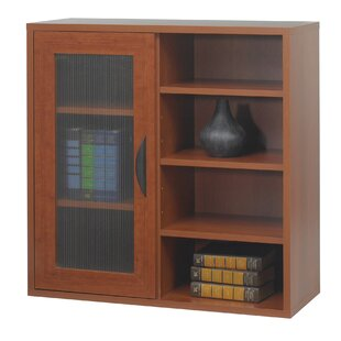 Safco® Apres Modular Storage Single Door/Open Standard Bookcase