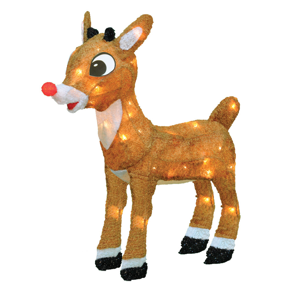 Product Works Rudolph the Red Nosed Reindeer Christmas Decoration with Lights & Reviews | Wayfair
