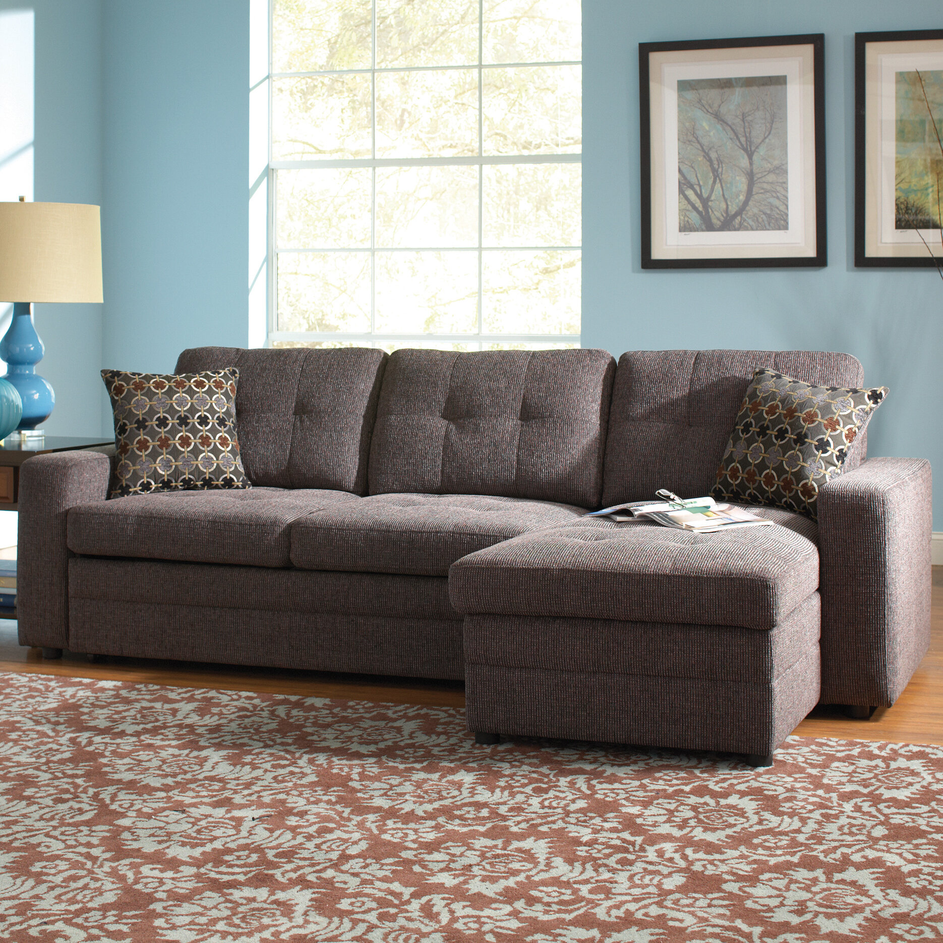 - Red Barrel Studio Chanelle Right Hand Facing Sleeper Sectional