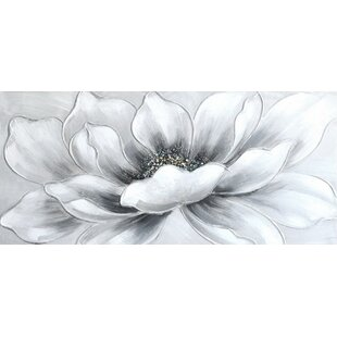 Silver white canvas wayfair white flower print on canvas mightylinksfo