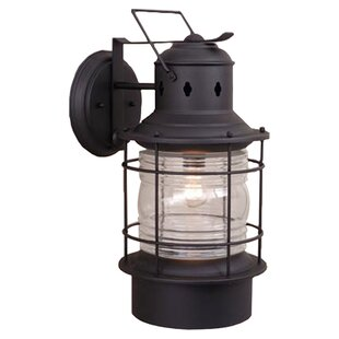 Reviews Bimini 1-Light Outdoor Wall Lantern By Beachcrest Home