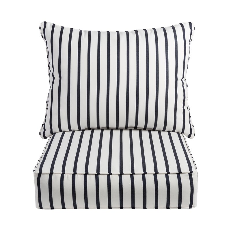 Whitten Stripe Indoor Outdoor Sunbrella Lounge Chair Cushion Reviews Joss Main