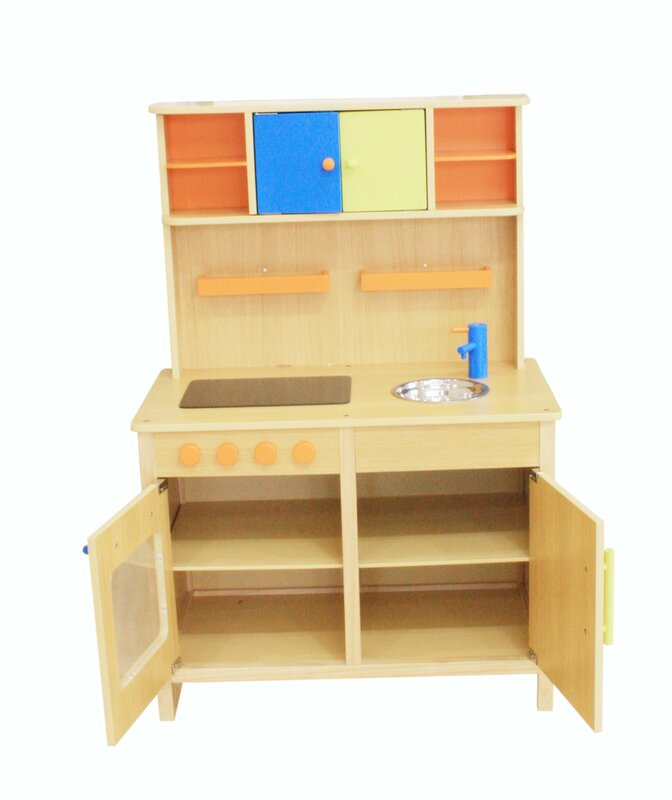 kids pretend all wood kitchen natural for toy play sets wooden set beautiful heartwood affordable and toys toddlers