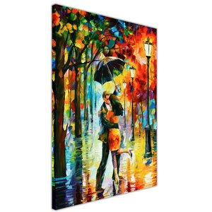 Dance Under the Rain by Leonid Afremov Painting Print on Wrapped Canvas