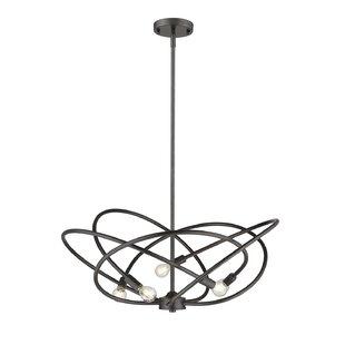 Orren Ellis Carrasco 5-Light Geometric Pendant