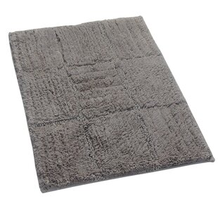 Nathen 100% Cotton Chakkar Board Spray Latex Back Bath Rug