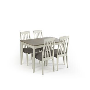Izzie Extendable Dining Set With 4 Chairs By August Grove