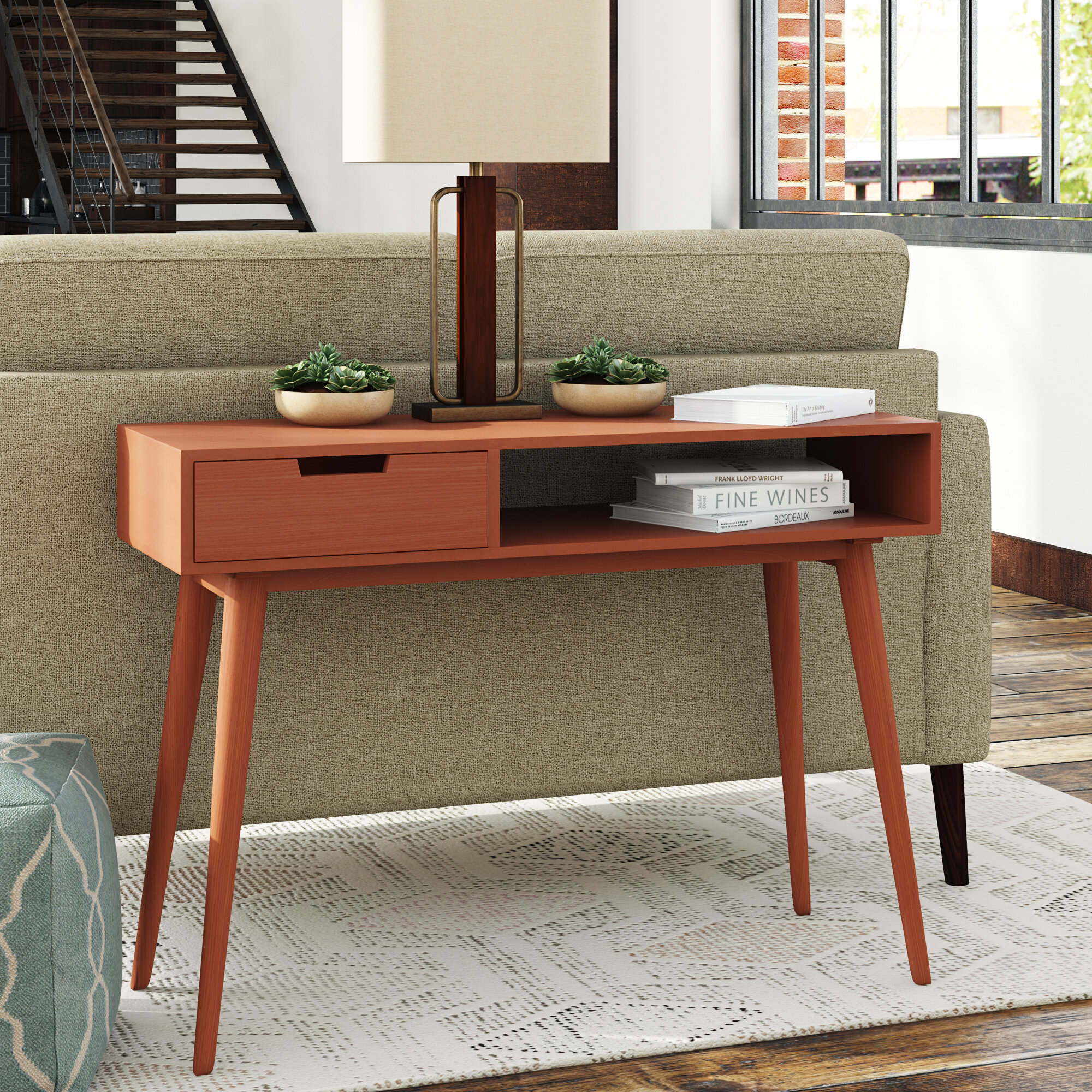 George Oliver Brookline Mid Century Console Table | Wayfair