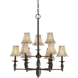 Pascua 9-Light Shaded Chandelier by Loon Peak