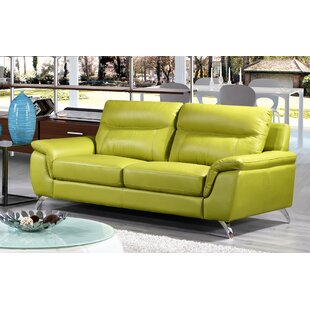 Hunter Green Leather Sofa Wayfair Ca