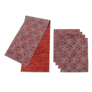 Liem Hauw 5 Piece Handmade Table Runner And Placemat Set