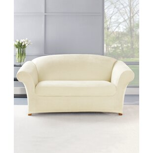 Stretch Plush 2 Piece Loveseat Slipcover Set
