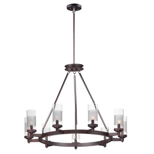 Appomattox 9-Light Wagon Wheel Chandelier by Charlton Home
