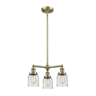 Best Reviews Adalbert Small Bell 3-Light Shaded Chandelier By 17 Stories