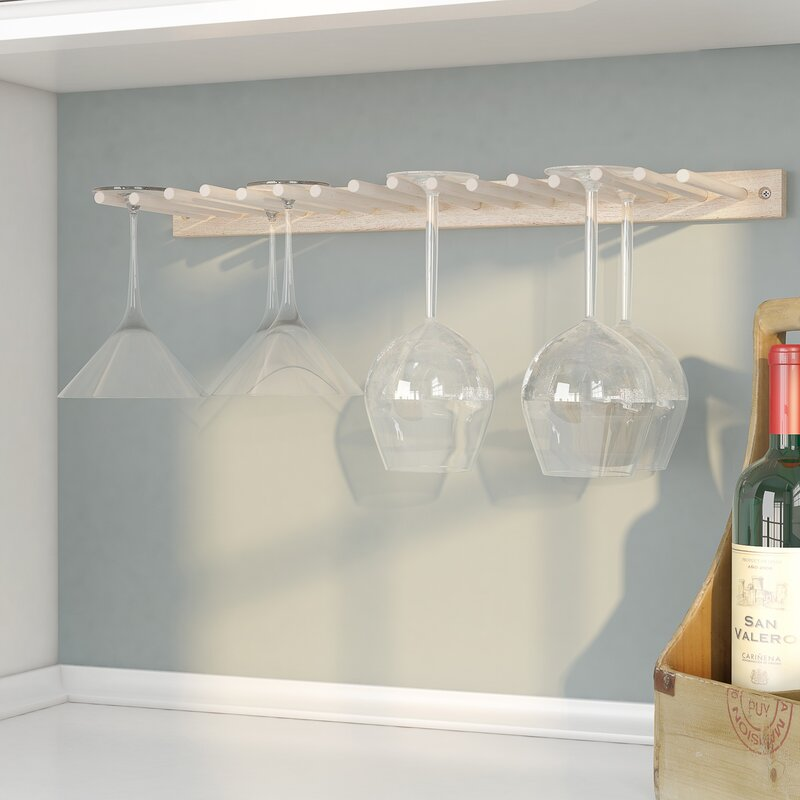 Rebrilliant Wall Mounted Wine Glass Rack Reviews Wayfair