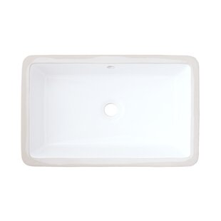 Look for Ceramic Rectangular Undermount Bathroom Sink with Overflow By American Imaginations