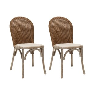 Cutshall Solid Oak Upholstered Dining Chair (Set Of 2) By Beachcrest Home
