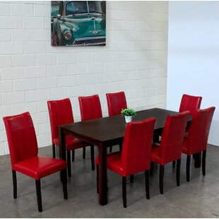 Etelvina 9 Piece Solid Wood Dining Set Red Barrel Studio