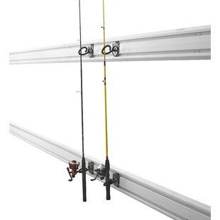 GAWVXXFHTH Gladiator Fishing Rod 4 Piece Slatwall Hooks (Set of 2)