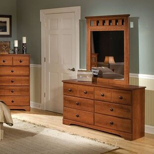 Barrowman 6 Drawer Double Dresser with Mirror by Darby Home Co