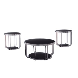 Dashiell 3 Piece Coffee Table Set by Wade Logan