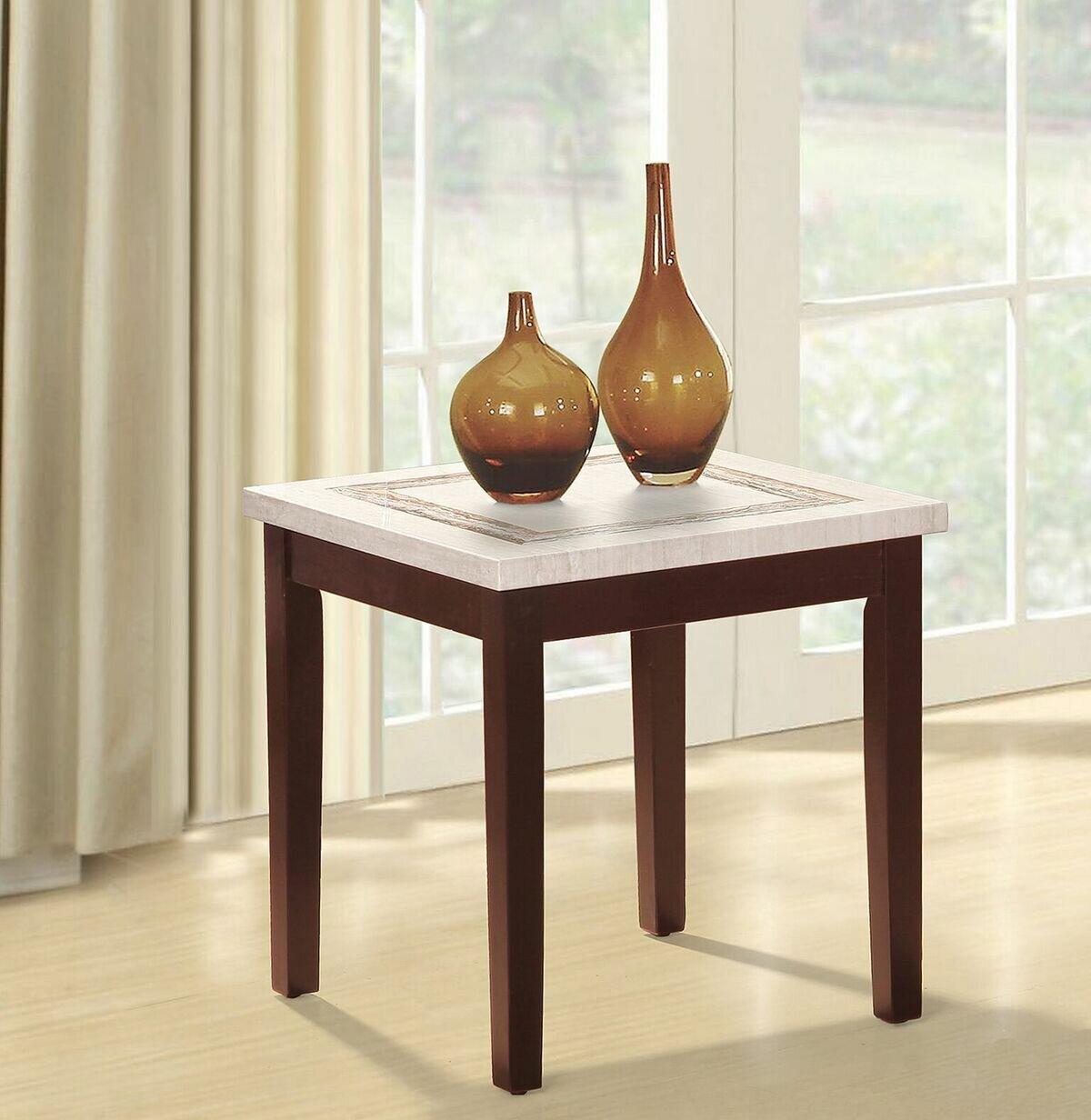 Red Barrel Studio Mccune Faux Marbelized Granite End Table Wayfair Ca