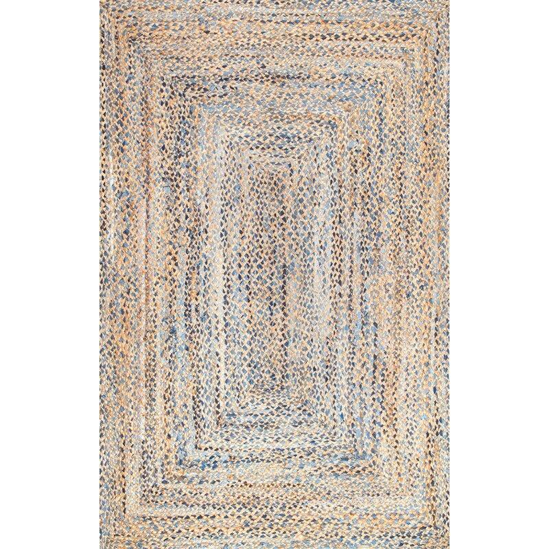 Etonnant Destrie Hand Braided Cotton Blue Area Rug