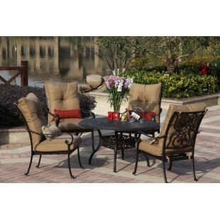 Darby Home Co Lanesville 5 Piece Dining Set with Cushions